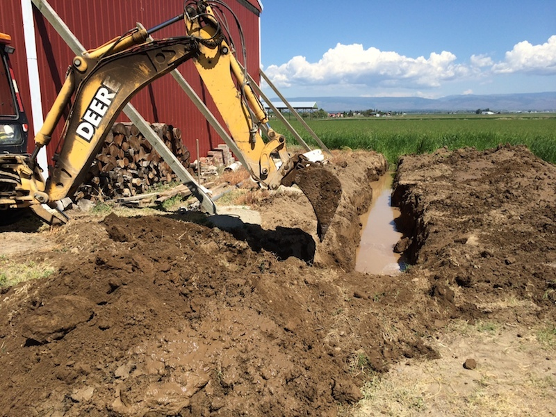 A backhoe is a wonderful tool!  Don't leave home without it if you are up against caliche!